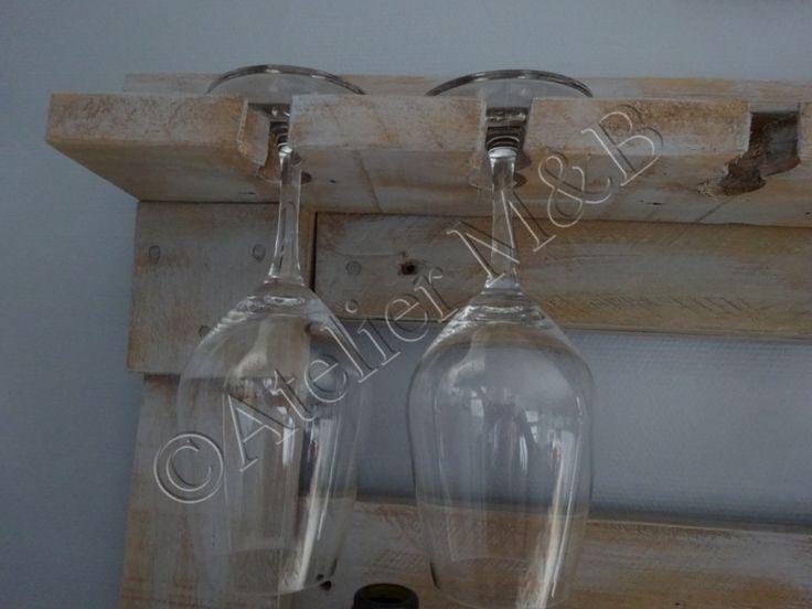 Tag re mural pour bouteilles de vin verres pied - Etagere en verre mural ...