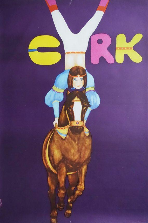 1973 Girl on horse by Maciej Urbaniec CYRK  by OutofCopenhagen
