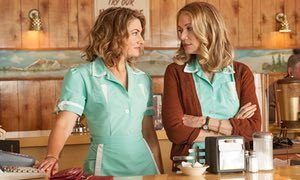 Back once again … Madchen Amick as Shelley and Peggy Lipton as Norma.