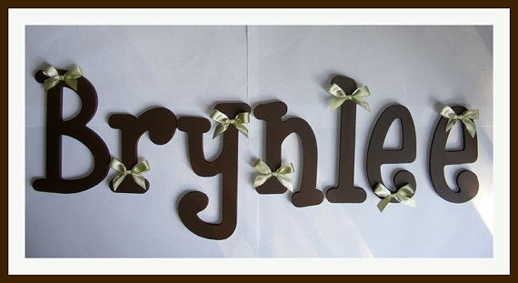 7 Letters Name Set 10 Inch Unpainted Wooden Letters Wood Letters