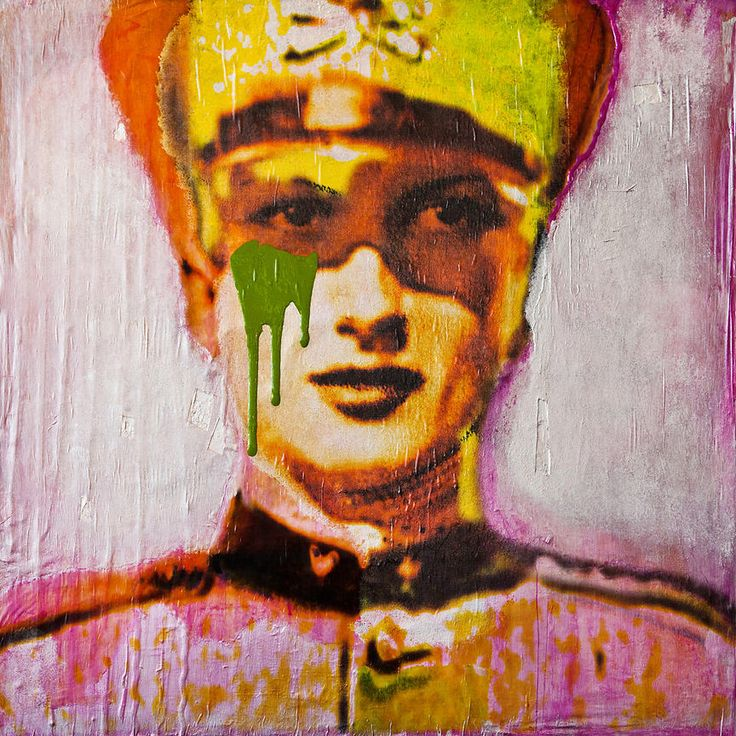 Mother Soldier 2 - mixed media painting - Sold- Prints available