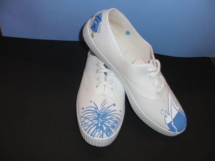 Zapatillas pintadas a mano Hogueras