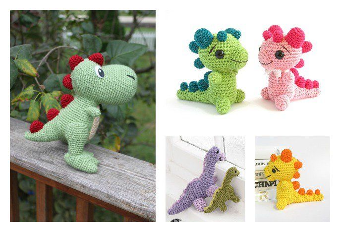 Dinosaurs are so much fun! With these Crochet Amigurumi Dinosaur Free Patterns, you can create custom dinosaurs for all the dino fans in your life.