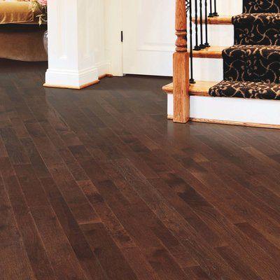 """Mohawk Charmaine 3-1/4"""" Solid Oak Hardwood Flooring in Matte Glossy Coffee Bean"""