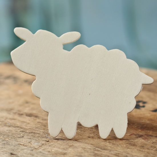 Unfinished wood sheep cutout simple crafts and craft for Nativity cut out patterns wood