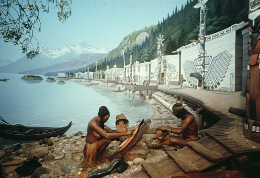Kwakiutl Village -- model for villages in story