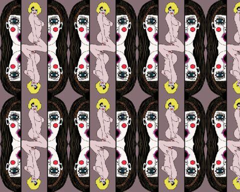 b&b wallpaper - alice glamour