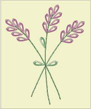 lavender hand embroidery design | Embroidered Lavender Napkins - Pattern for Lavender Embroidery