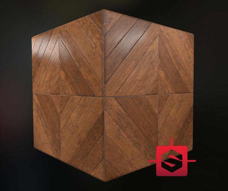Wooden Floor Tile Procedural, Sebastian Fijał on ArtStation at…