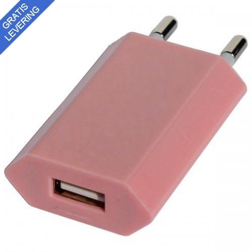 iPhone – iPad USB vægoplader - Lyserød