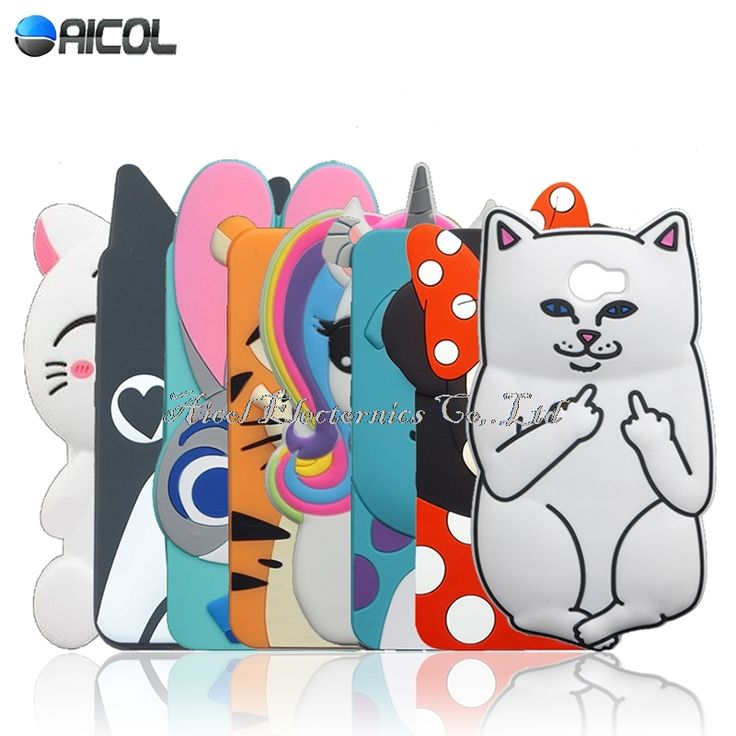 "Stitch Case For Huawei Y5 II Cute Cat Soft Case For Huawei Honor 5A LYO-L21 /Y6 II Compact 5.0"" Rabbit Minnie Dog Horse Cover"