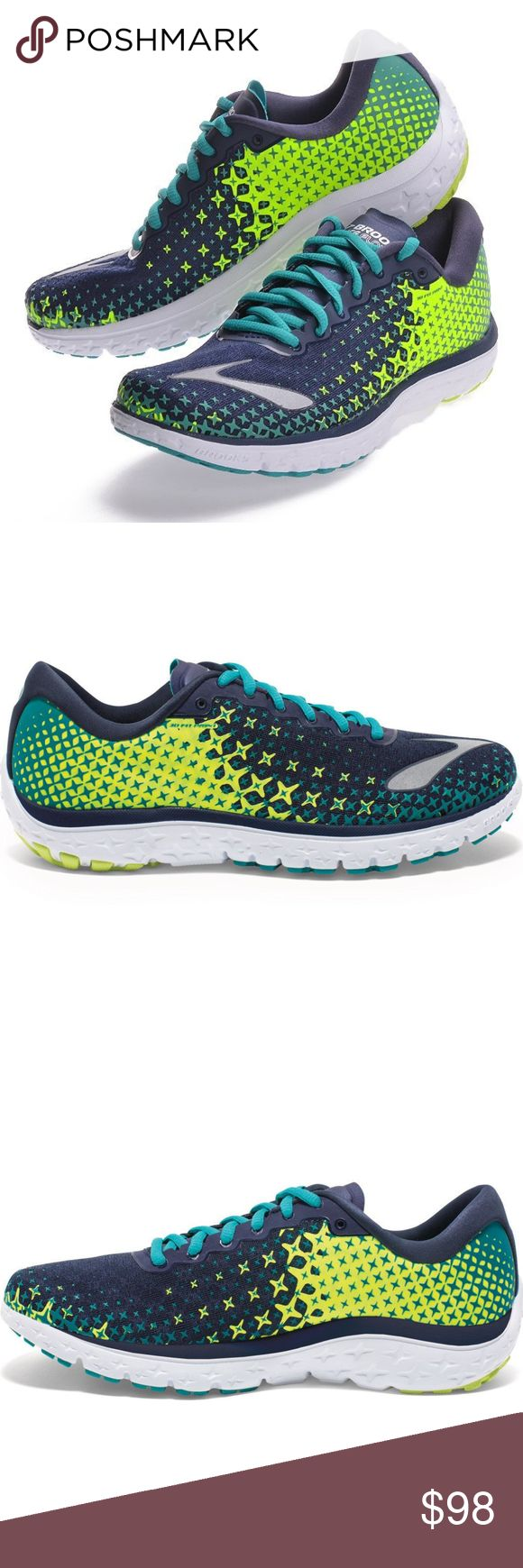 Brooks Women's PureFlow 5 Running Shoe Size 8 If you're looking for a lightweight, agile ride that matches you stride for stride, you've gotta check out the Women's Brooks® PureFlow 5. Fall in love with the well-cushioned yet super lightweight, hyper flexible ride of this shoe that has the perfect amount of cush while managing to keep a low weight. Comfort Collar: Offers extra cushion and comfort Anatomical Last mimics the shape of the foot: Provides close support and a glove-like feel and…
