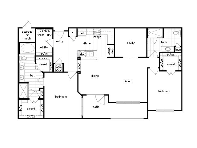 22 Best 36sixty Images On Pinterest Houston Tx Apartment Floor Plans And Bedroom Apartment