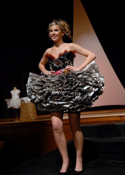 how to make a dress using recycled materials