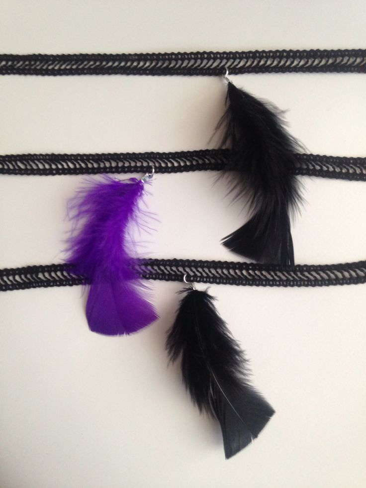 Plume chokers- now on Etsy