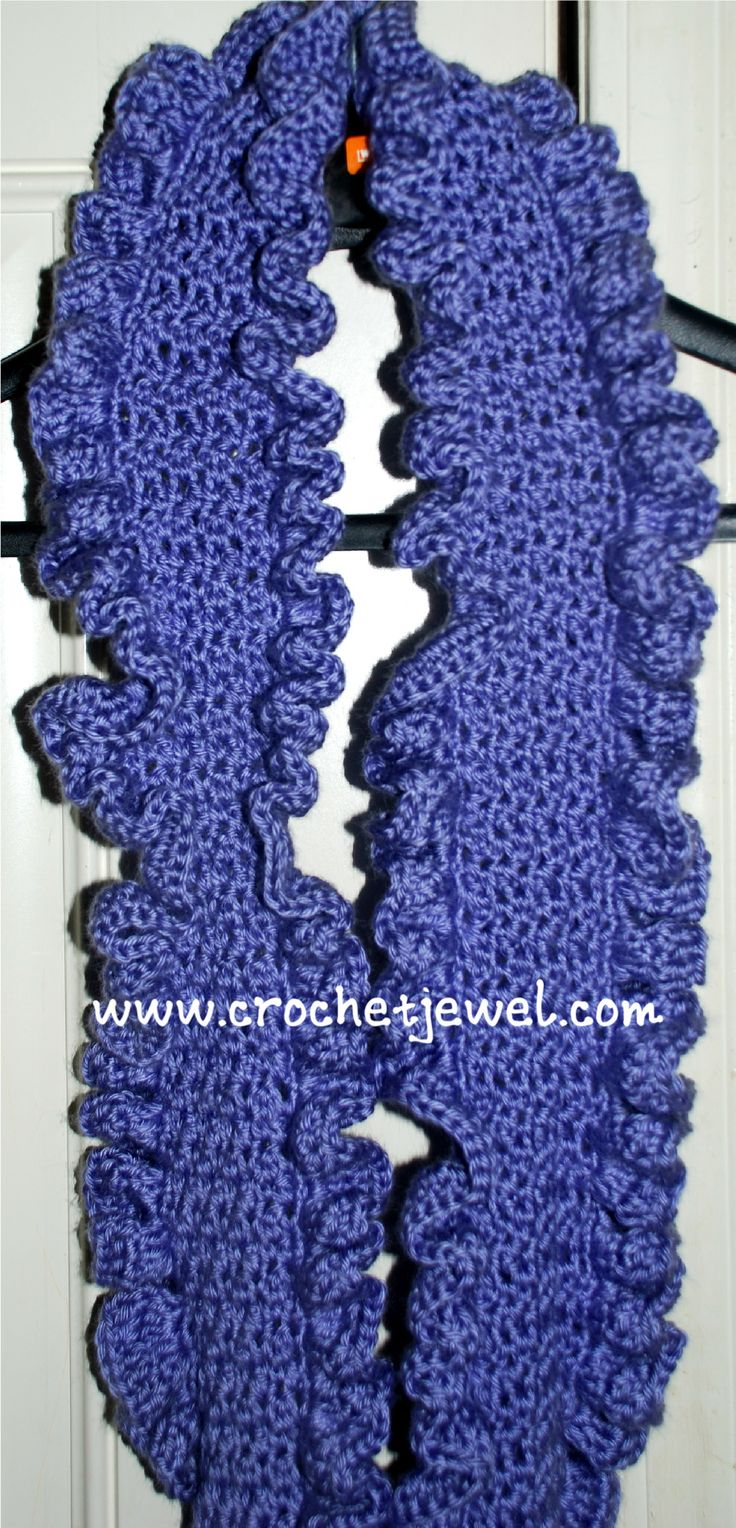 Crochet Patterns Ruffle Scarf : ... by Debbie Frantz on Crochet/Knit Scarves/Hooded Scarves/Shawls/Wr