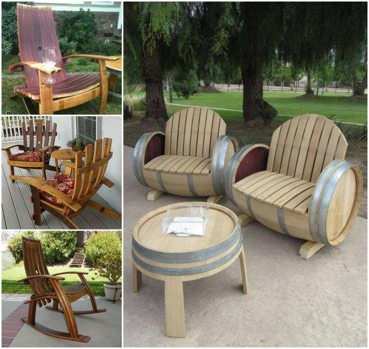 DIY Wine Barrel Chair
