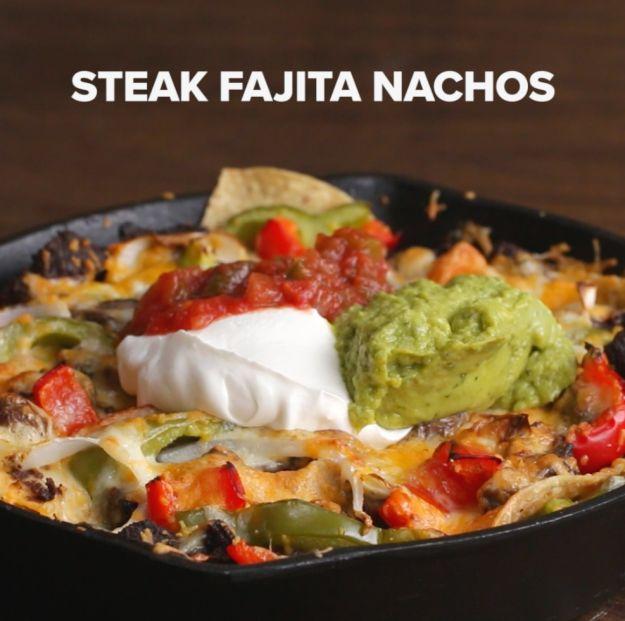 Steak Fajita Nachos | Here's A Video That Shows You Four Ways To Make The Ultimate Nachos