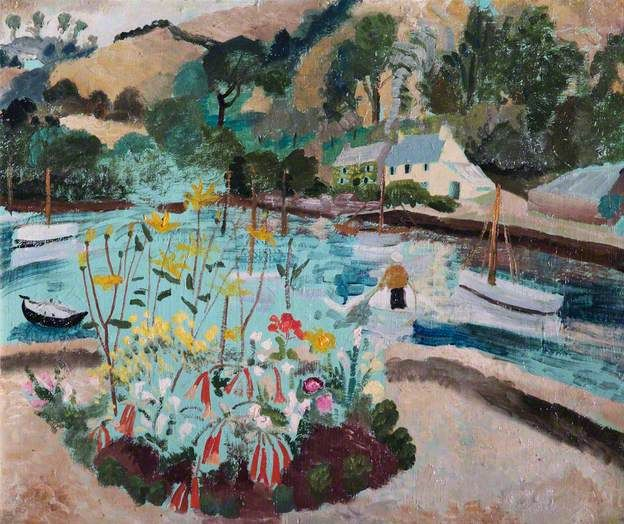 Summer by Winifred Nicholson, 1928, Oil on board, 65 x 77.5 cm, Leamington Spa Art Gallery & Museum