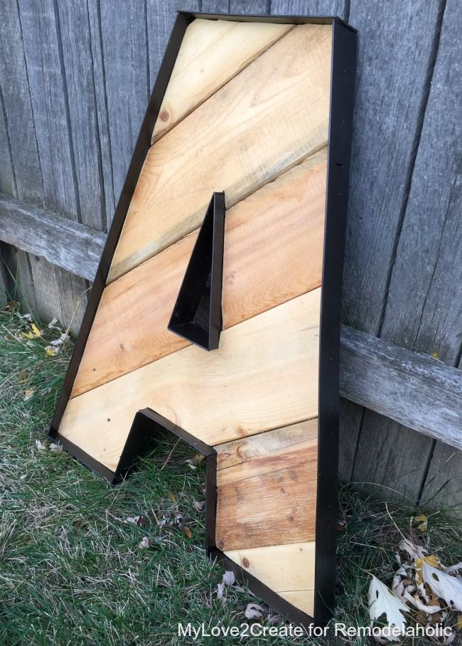 These rustic industrial letters are amazing and easy to make! Cheap, too. Now I just have to decide what word to spell, or do a monogram.