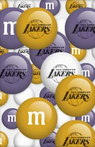 These custom Los Angeles Lakers M & M candies would make the perfect treat for your celebration.  Please visit my page for more party ideas including plates, napkins, decorations, balloons, favors and cake & cupcake supplies.