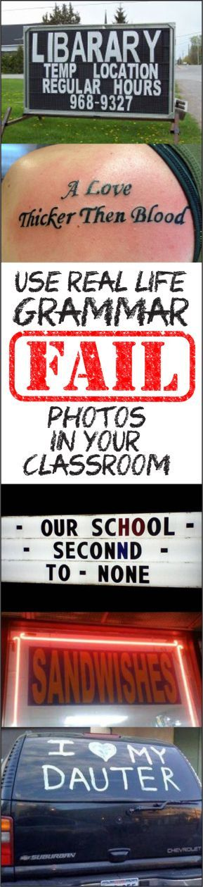 Language arts inspiration: Here's how to use funny photos of grammar mistakes to teach grammar rules.