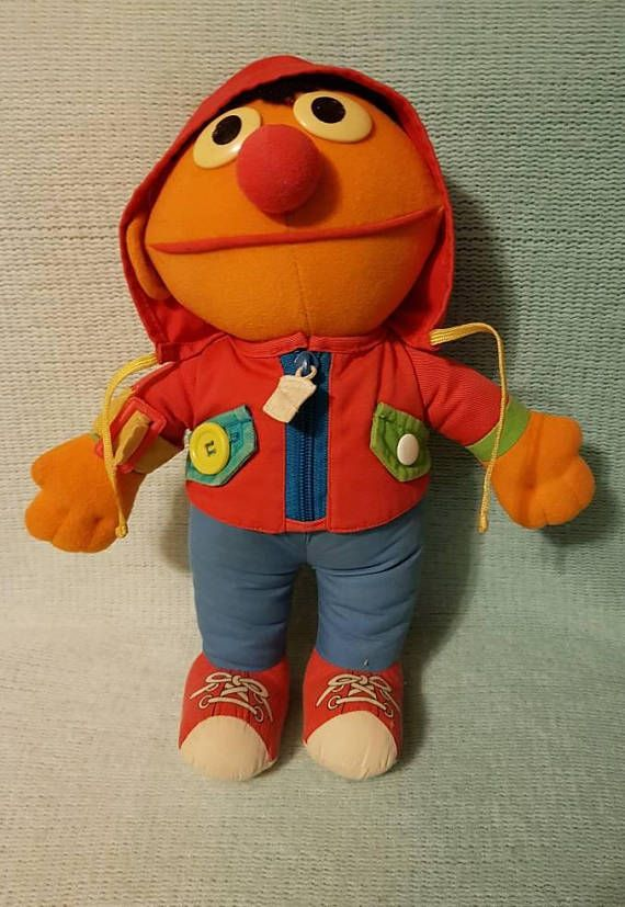 Check out this item in my Etsy shop https://www.etsy.com/ca/listing/584385287/sesame-street-ernie-i-can-do-it-myself