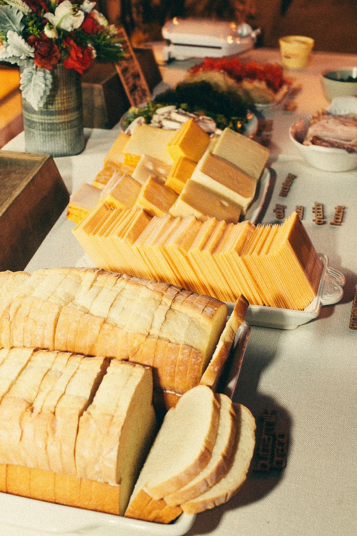 Grilled cheese bar - so fun for a party (just add wine!)