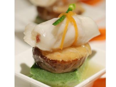 Steamed Grouper rolls with Yunnan Ham