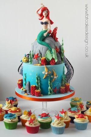 pieni merenneito kakku yhteensopivat cupcake