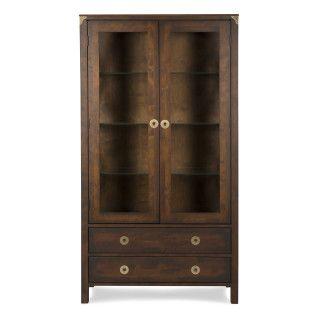Balmoral Chestnut 2 Door 2 Drawer Display Cabinet