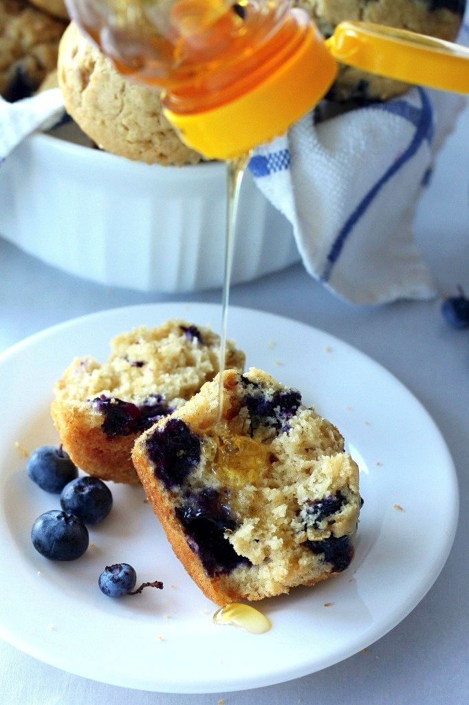 Healthy Greek Yogurt and Honey Blueberry Muffins | Recipe ...