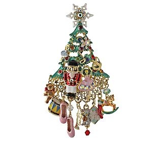 Kirks Folly Dreams of Nutcracker Christmas Tree Pin/Enhancer - QVC.com