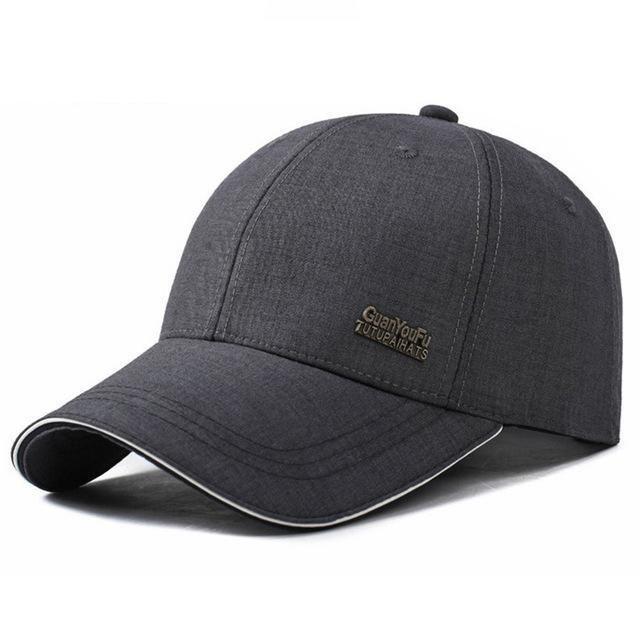 Men Adjustable Baseball Cap   Simple Black Breathable Caps ... 94f628d55de