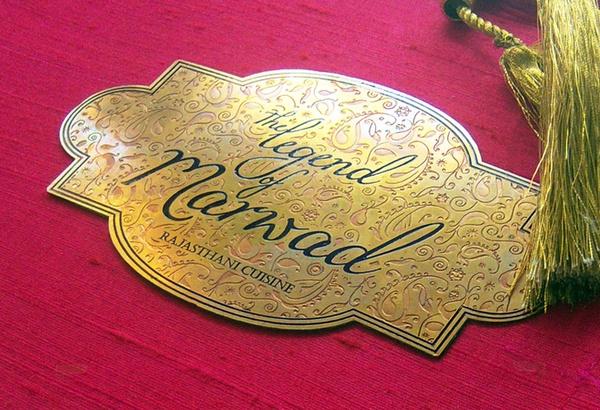 Restaurant Menu Design - The Legend of Marwad by Design Dimensions , via Behance