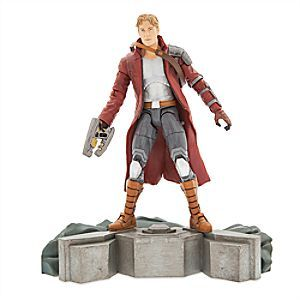 Star-Lord Action Figure - Guardians of the Galaxy - Marvel Select - 7'' | Disney Store The music-loving leader of the <i>Guardians of the Galaxy</i> comes hot foot from saving the universe to the roster of Marvel Select figures. Star-Lord's large collection of accessories include a pair of jet-flame boots.