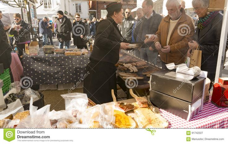Dried And Smoked  Sausages At The Agricultural Market - Download From Over 59 Million High Quality Stock Photos, Images, Vectors. Sign up for FREE today. Image: 91742227
