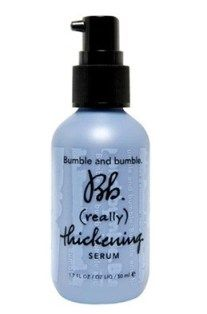 Thinning Hair | Thin Hair Solutions Treat your hair with thickening serum from Bumble and Bumble, an over-night leave-in treatment that plumps up meager strands.