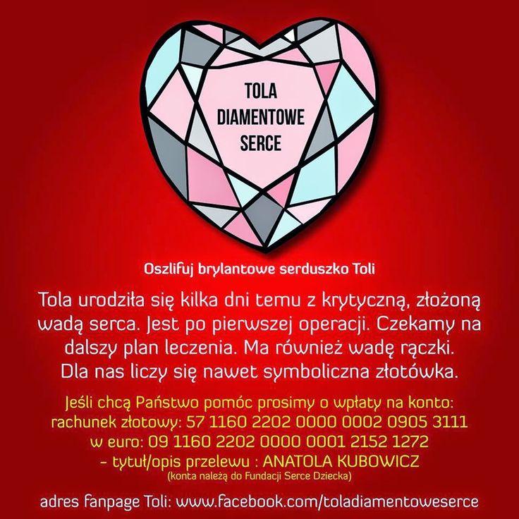 Bona Apetita! blog kulinarny, wnętrza, żyj ze smakiem!: Moja siostrzenica TOLA  -  Pomóż oszlifować brylan...