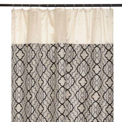 Navy And Cream Shower Curtain Online Image Arcade