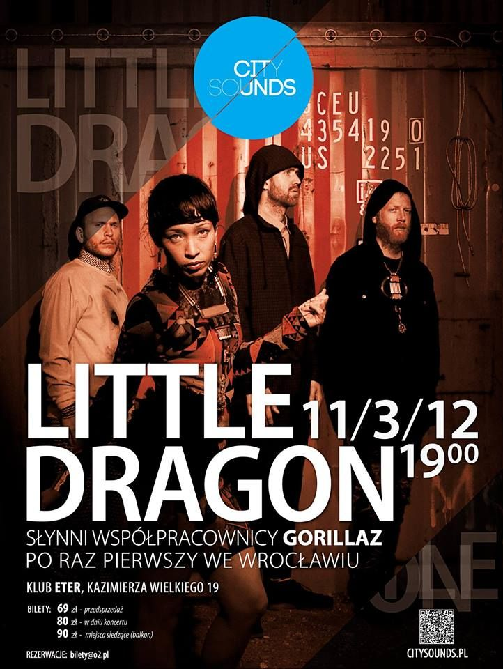 Koncert Little Dragon w Eterze