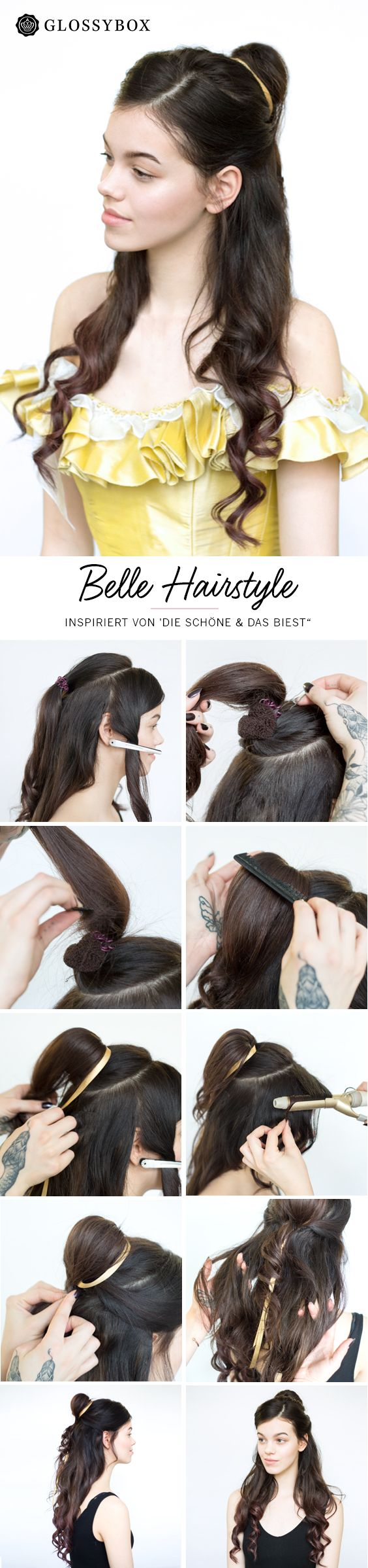 Belle, Hair, Tutorial, Beauty and the Beast, die Schöne und das Biest