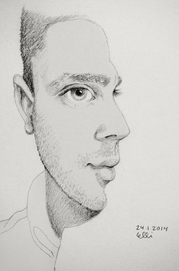 Side By Face by Elli // 24.1.2014 // #sketch #sketchaday # ...