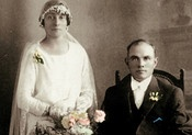 Vittorio and Giuseppina De Bortoli established the business in 1928. Here they are on their wedding day.