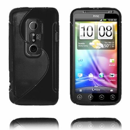 S-Line (Sort) HTC Evo 3D Deksel
