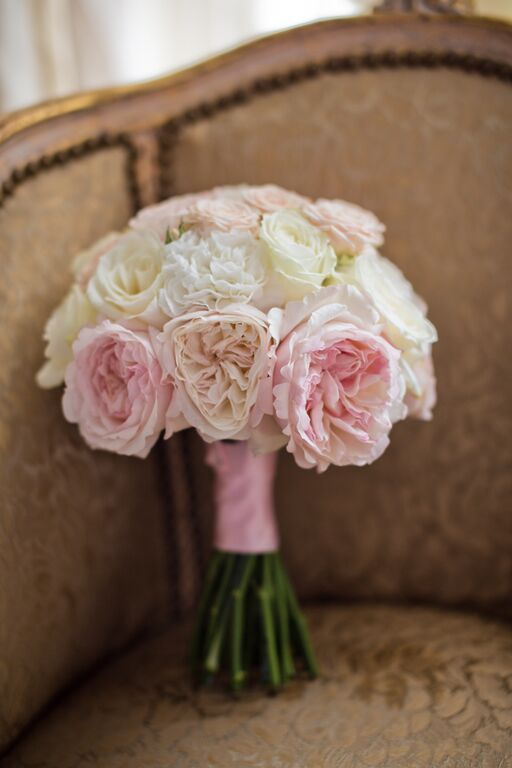 Bouquet rose et blush
