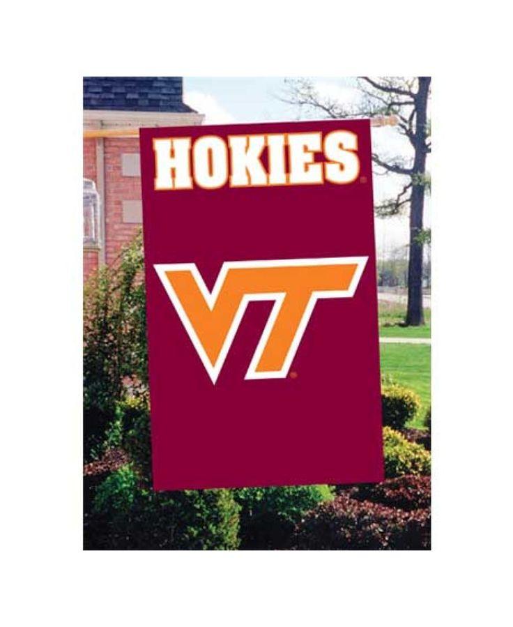 Party Animal Virginia Tech Hokies Applique House Flag