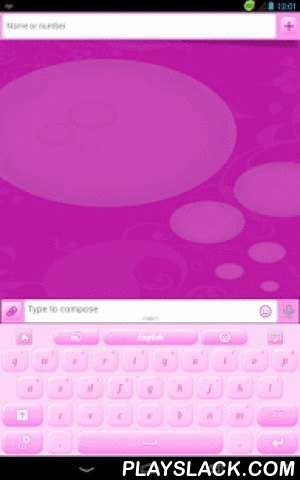 GO Keyboard Pink Bubblegum  Android App - playslack.com , Bubblegum Pink is always a fashionable color. Today you can DOWNLOAD for FREE this GO Keyboard theme on your smartphone or tablet and change your day from a boring one to a playful and bright one only with a touch of your keyboard. Make your phone as lovely as you want. Make your texting more fun by using our new bubblegum pink GO Keyboard. It's easy to install, use on any android phone and you can even match it with your clothing. GO…