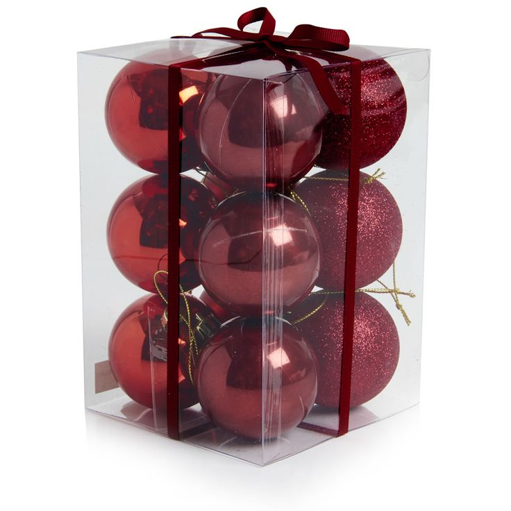 Wilko Festive 60mm Red Baubles 12pk  sc 1 st  Pinterest & The 12 best Wilko... images on Pinterest   Wilko christmas ...