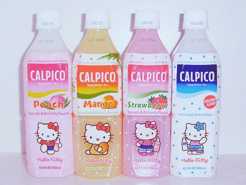 Japan Japanese Drink Calpico Calpis Hello Kitty Peach Mango Strawberry